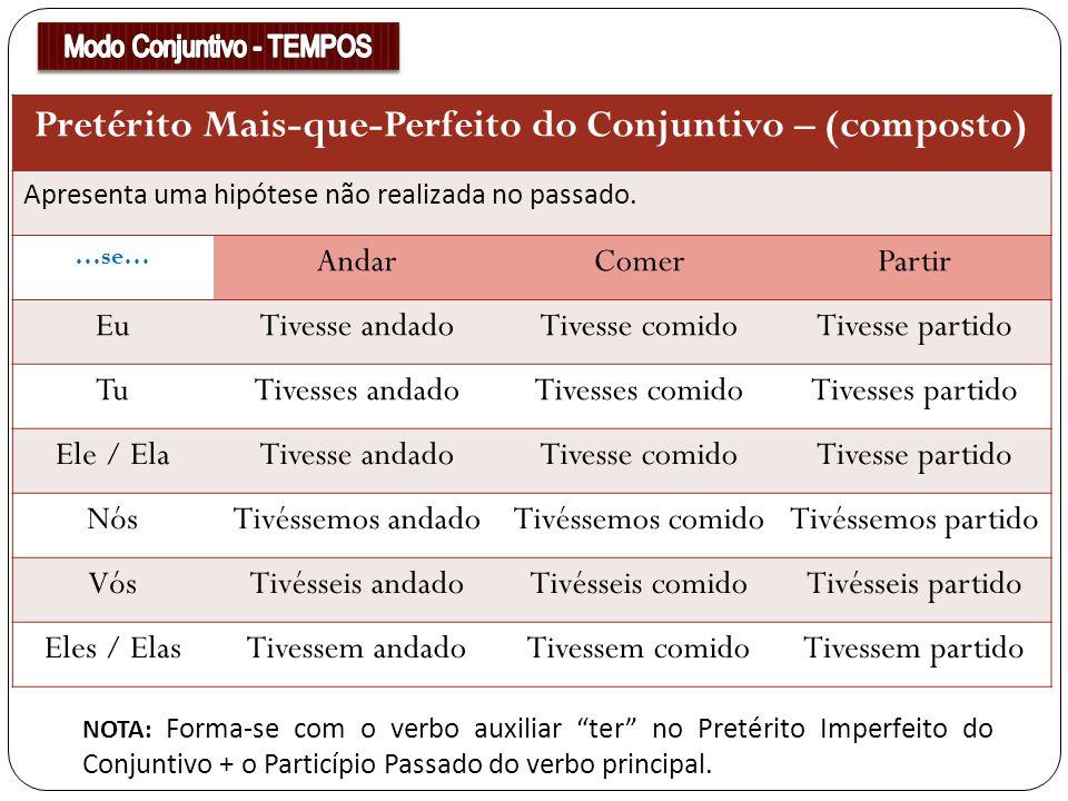 Pretérito Mais-que-Perfeito do Conjuntivo – (composto)