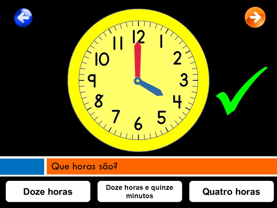 Doze horas e quinze minutos