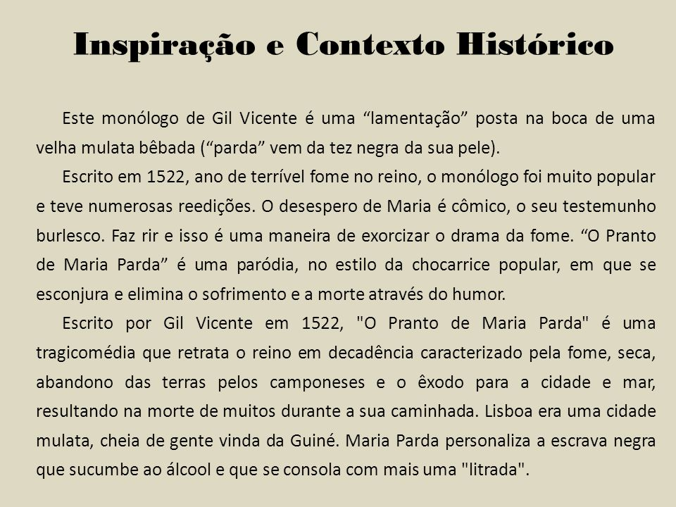 Inspiração e Contexto Histórico