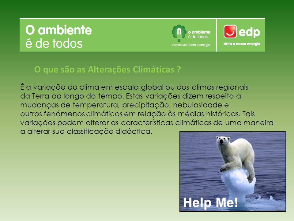 O que são as Alterações Climáticas