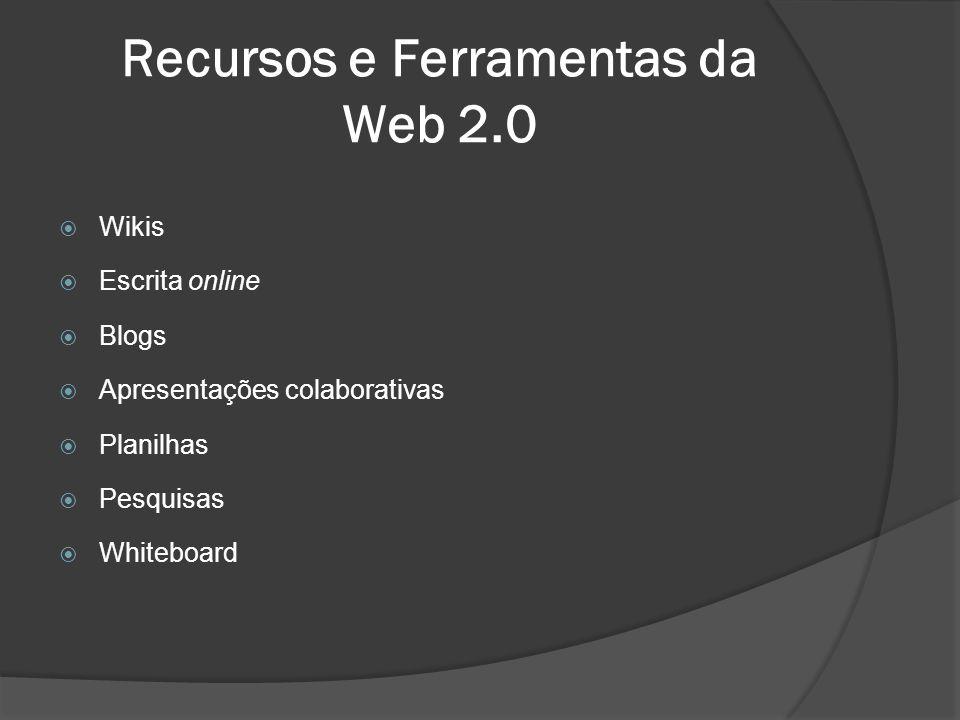 Recursos e Ferramentas da Web 2.0