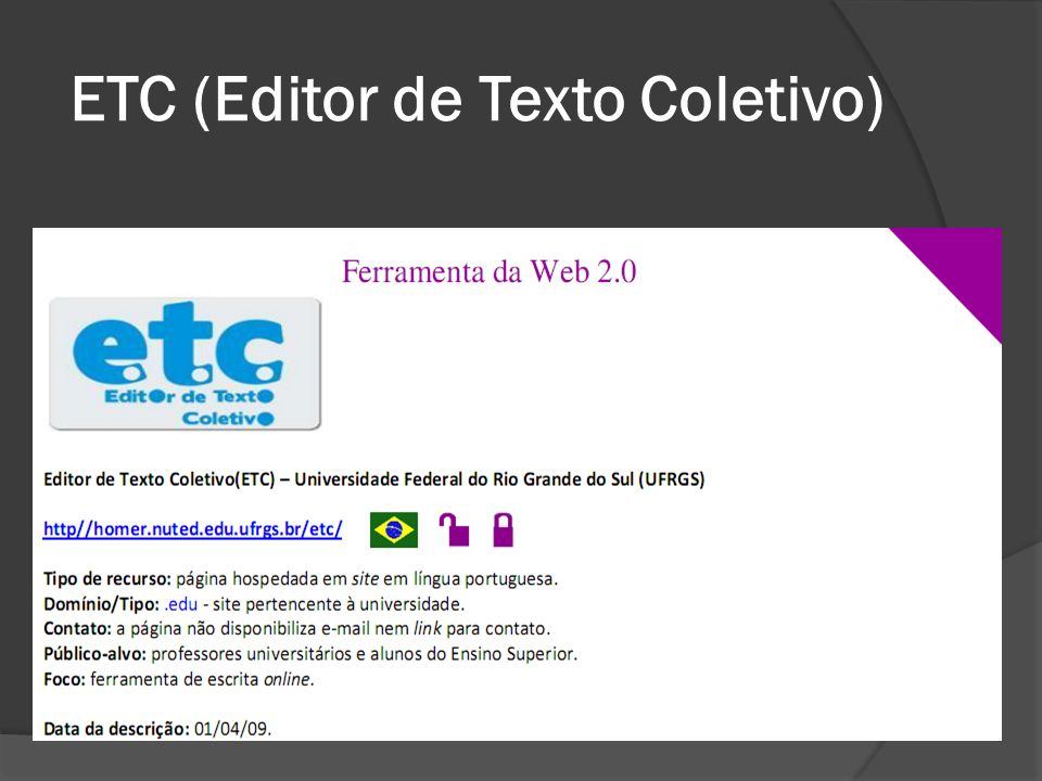 ETC (Editor de Texto Coletivo)