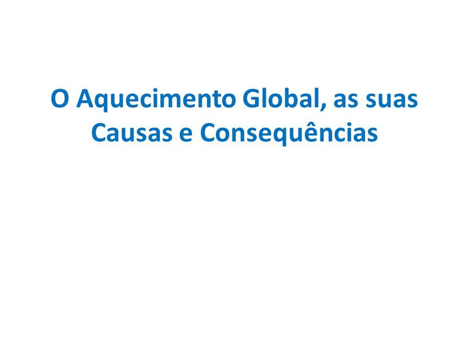 O Aquecimento Global, as suas Causas e Consequências