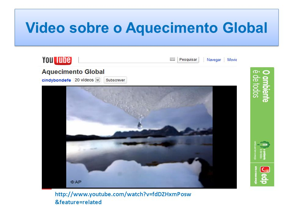 Video sobre o Aquecimento Global