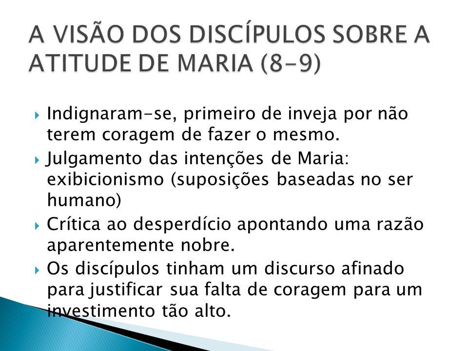 A VISÃO DOS DISCÍPULOS SOBRE A ATITUDE DE MARIA (8-9)