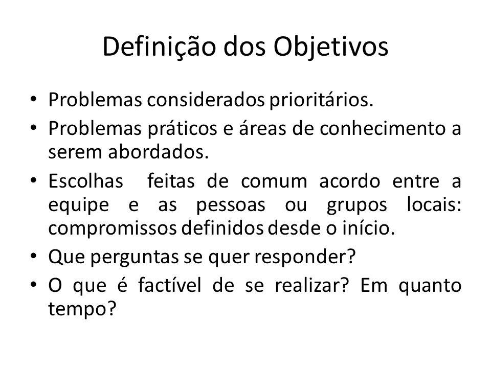 Definição dos Objetivos