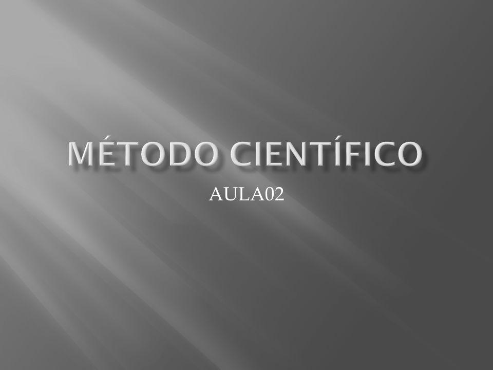 MÉTODO CIENTÍFICO AULA02