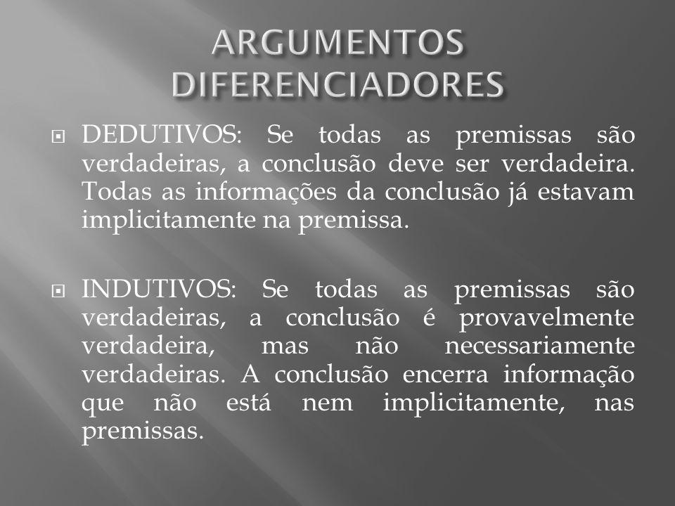 ARGUMENTOS DIFERENCIADORES