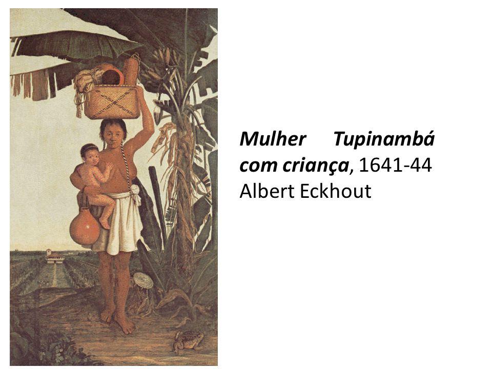Mulher Tupinambá com criança, 1641-44