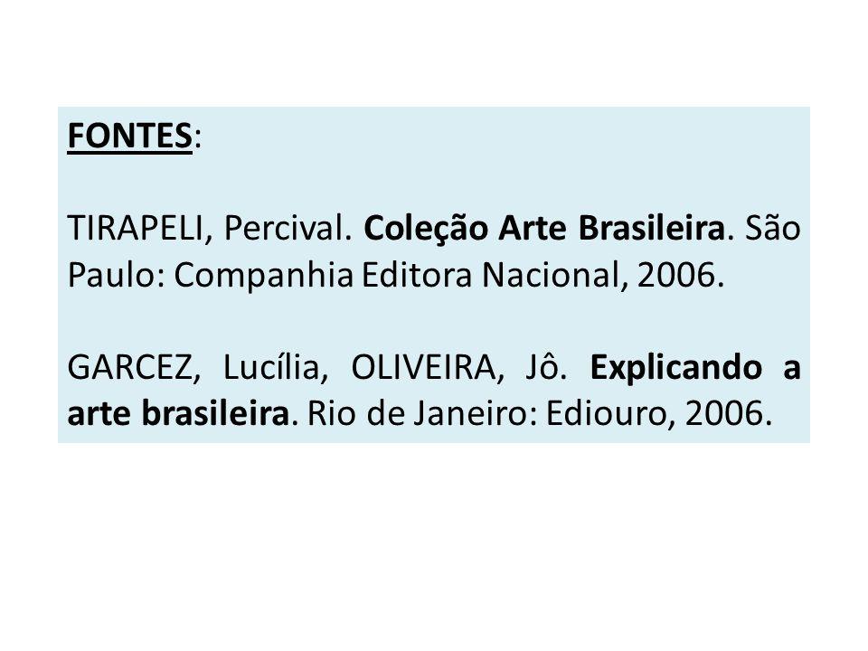 FONTES: TIRAPELI, Percival. Coleção Arte Brasileira. São Paulo: Companhia Editora Nacional, 2006.