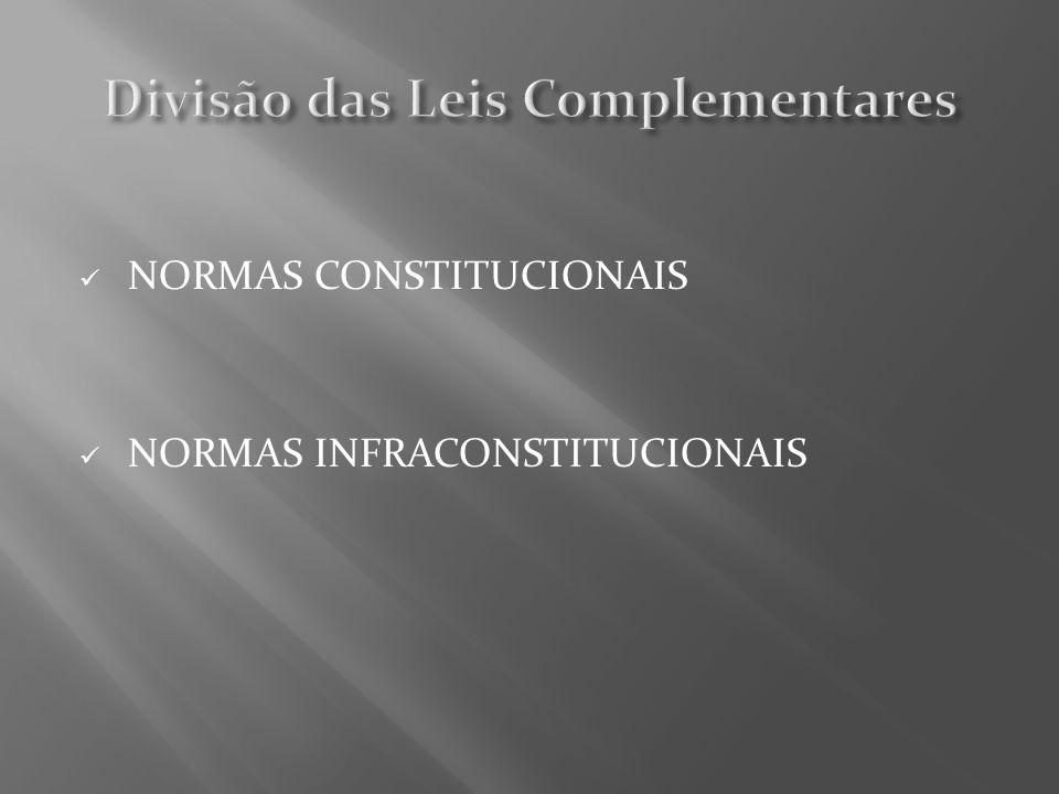 Divisão das Leis Complementares