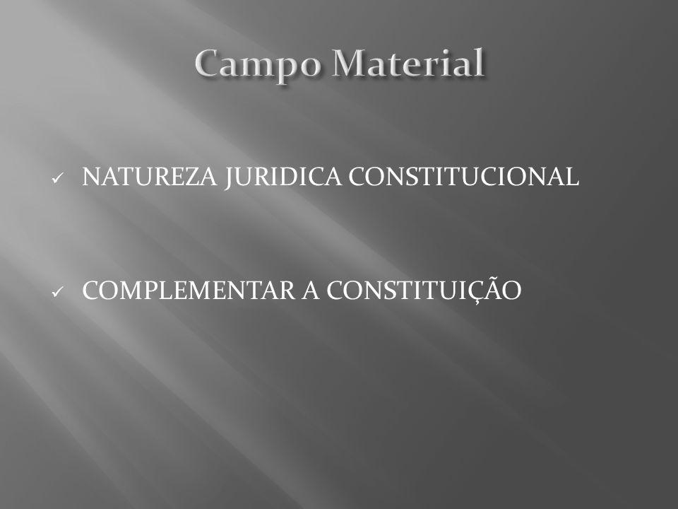 Campo Material NATUREZA JURIDICA CONSTITUCIONAL
