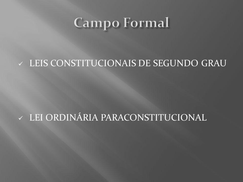 Campo Formal LEIS CONSTITUCIONAIS DE SEGUNDO GRAU