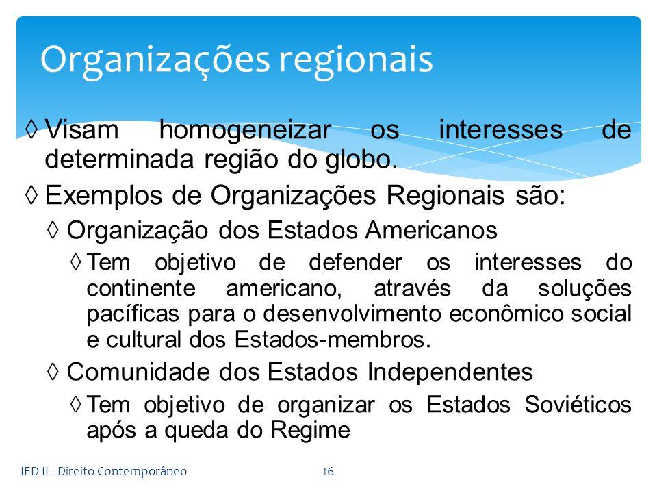 Organizações regionais