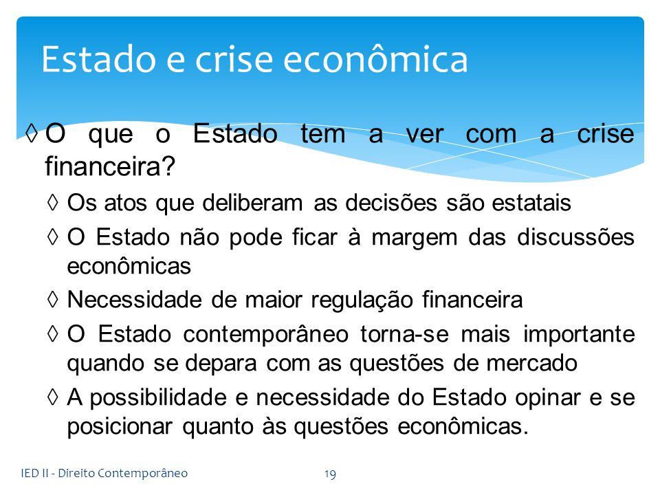 Estado e crise econômica