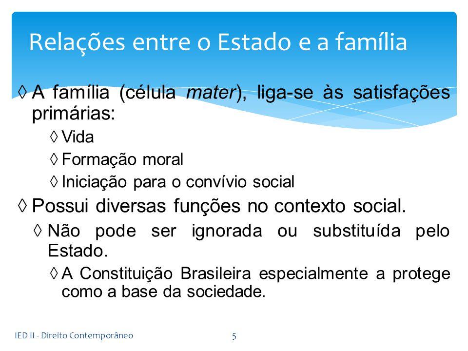 Relações entre o Estado e a família