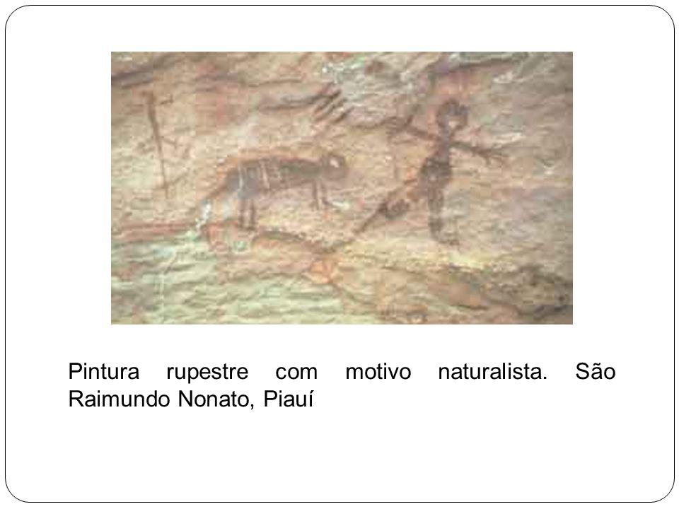 Pintura rupestre com motivo naturalista. São Raimundo Nonato, Piauí