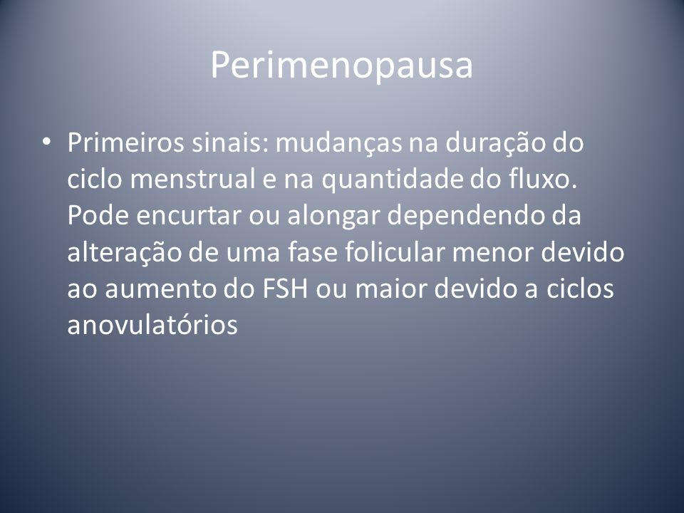 Perimenopausa