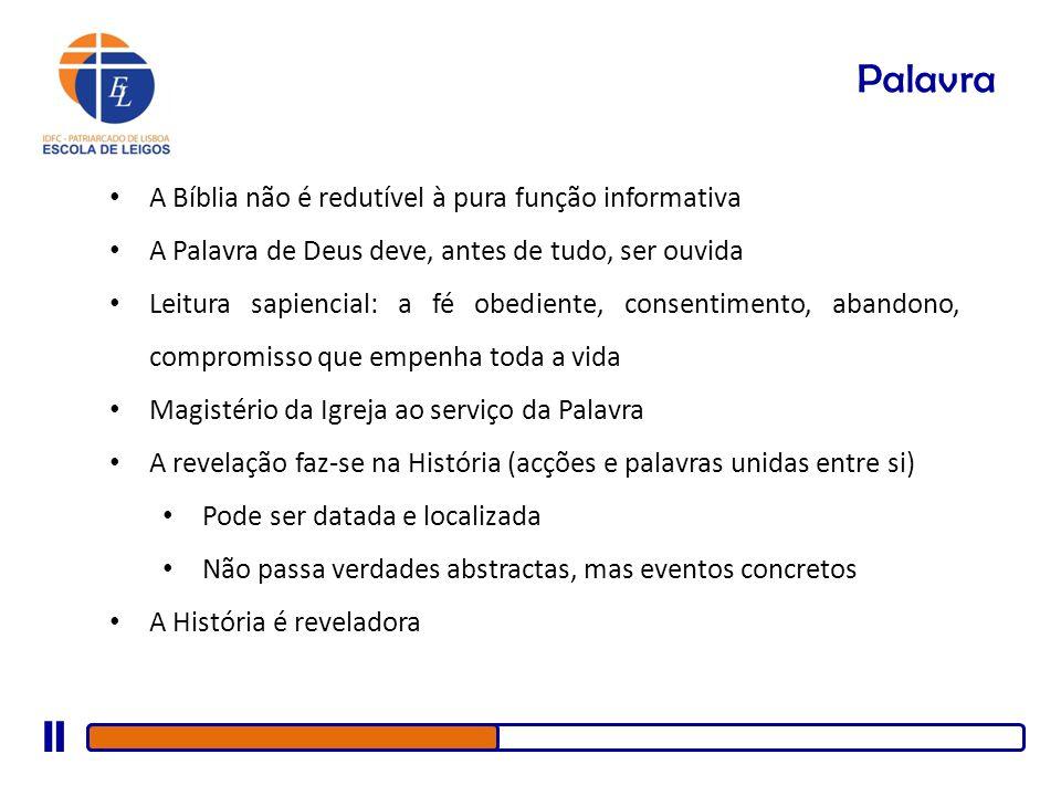 Palavra A Bíblia não é redutível à pura função informativa