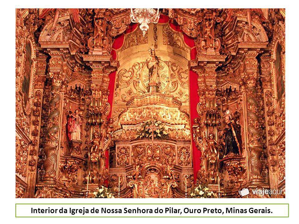 Interior da Igreja de Nossa Senhora do Pilar, Ouro Preto, Minas Gerais.