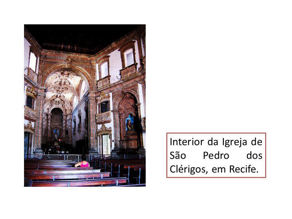 Interior da Igreja de São Pedro dos Clérigos, em Recife.