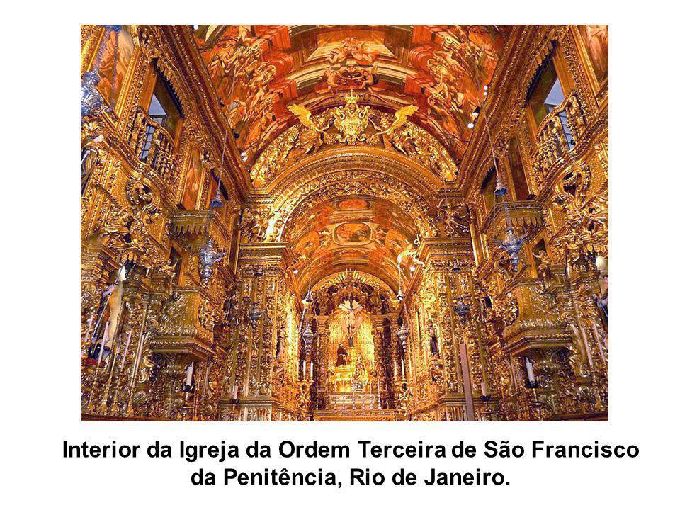Interior da Igreja da Ordem Terceira de São Francisco da Penitência, Rio de Janeiro.