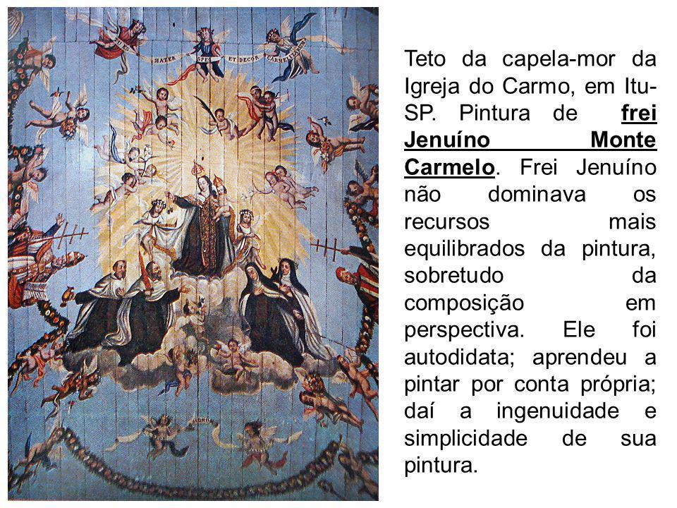 Teto da capela-mor da Igreja do Carmo, em Itu-SP