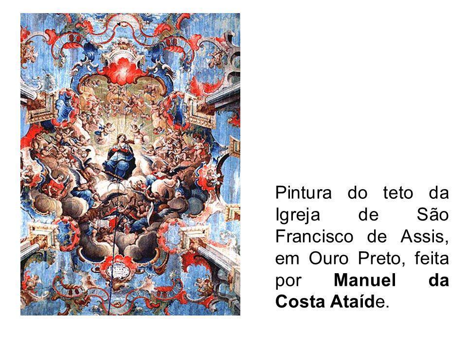 Pintura do teto da Igreja de São Francisco de Assis, em Ouro Preto, feita por Manuel da Costa Ataíde.