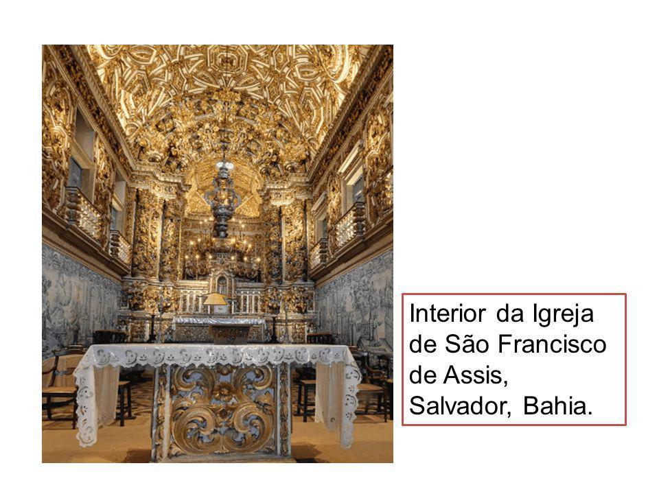 Interior da Igreja de São Francisco de Assis, Salvador, Bahia.