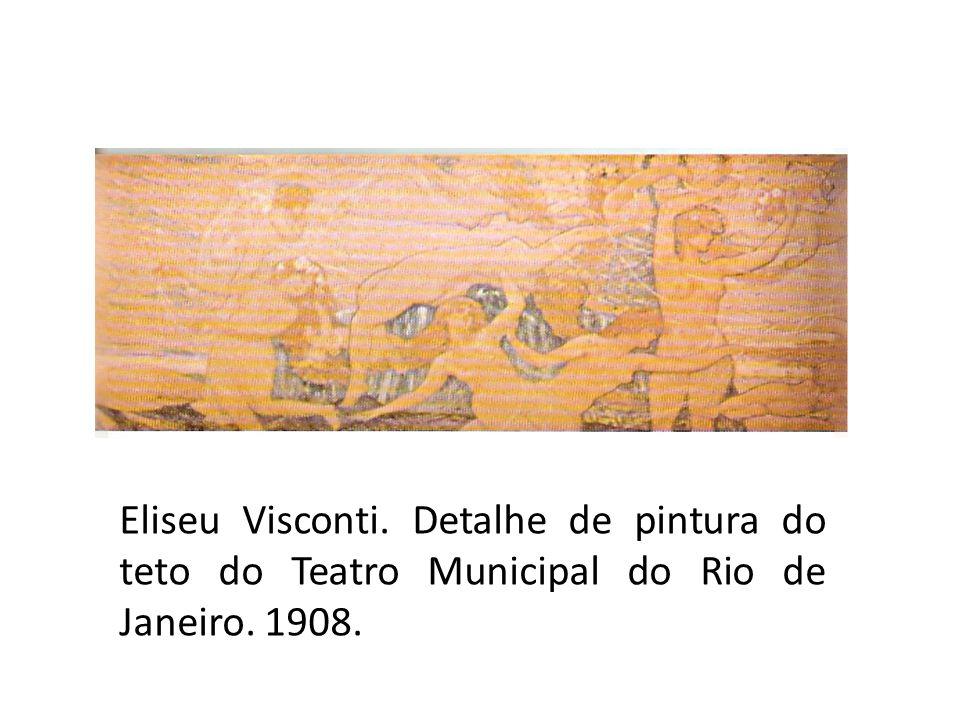 Eliseu Visconti. Detalhe de pintura do teto do Teatro Municipal do Rio de Janeiro. 1908.