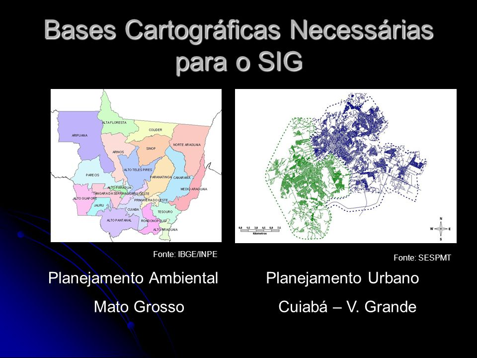 Bases Cartográficas Necessárias para o SIG