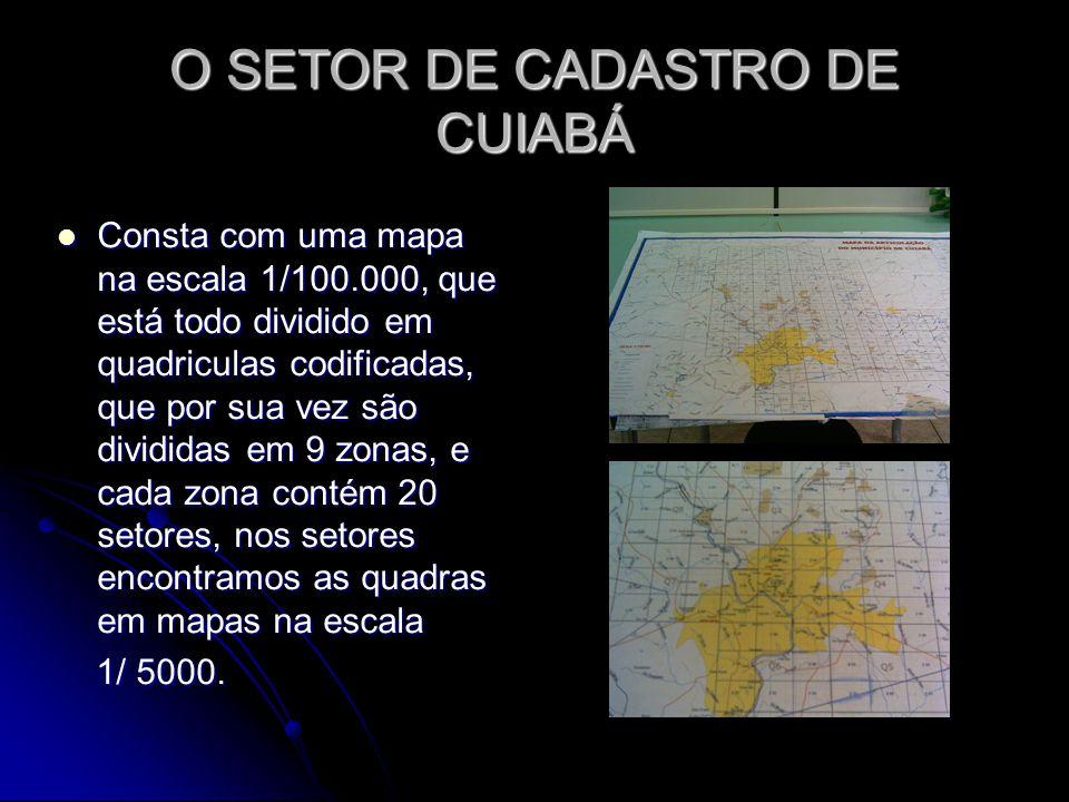 O SETOR DE CADASTRO DE CUIABÁ