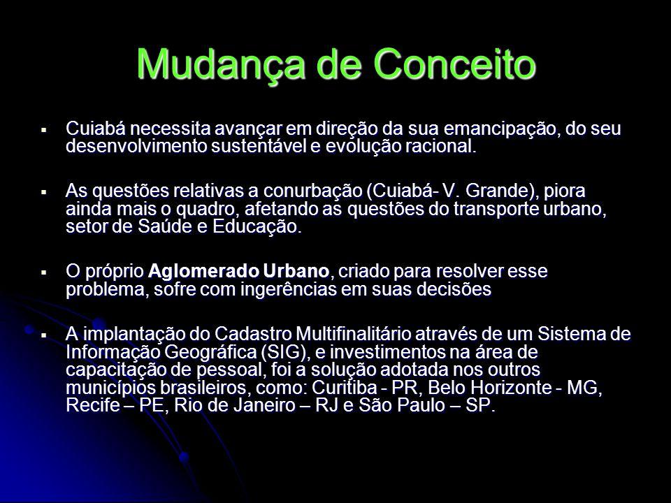 Mudança de Conceito Cuiabá necessita avançar em direção da sua emancipação, do seu desenvolvimento sustentável e evolução racional.