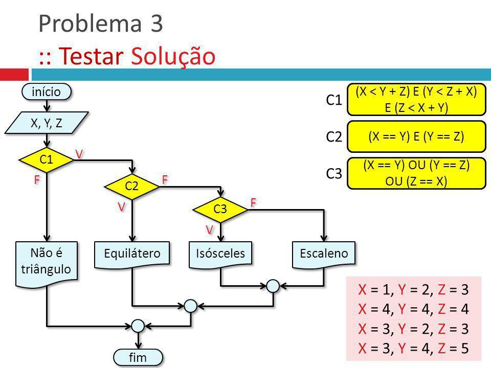 Problema 3 :: Testar Solução