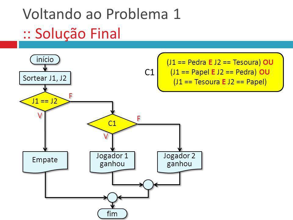 Voltando ao Problema 1 :: Solução Final