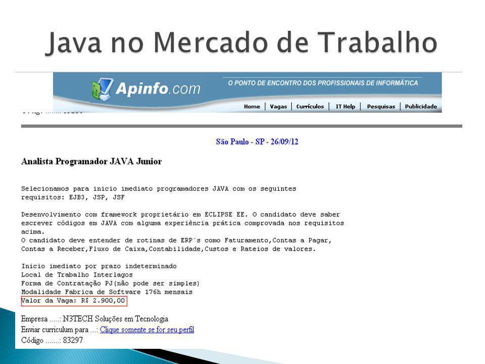 Java no Mercado de Trabalho