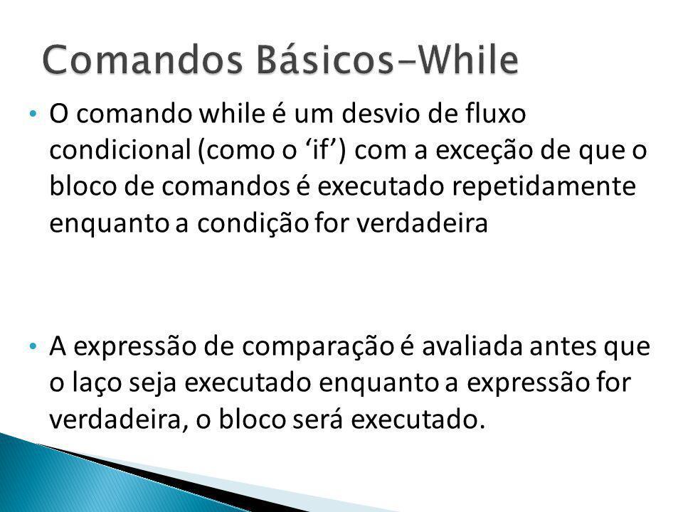 Comandos Básicos-While