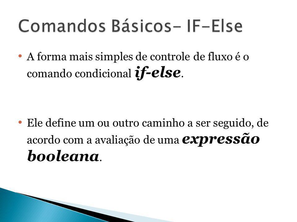 Comandos Básicos- IF-Else