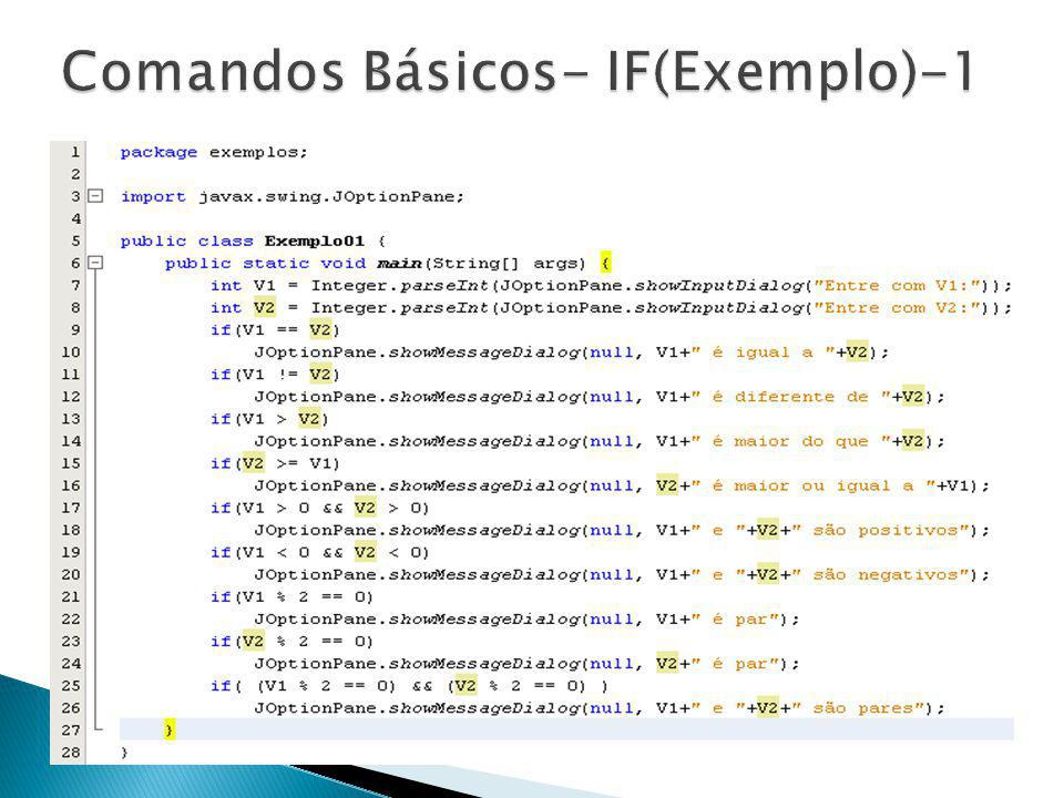 Comandos Básicos- IF(Exemplo)-1