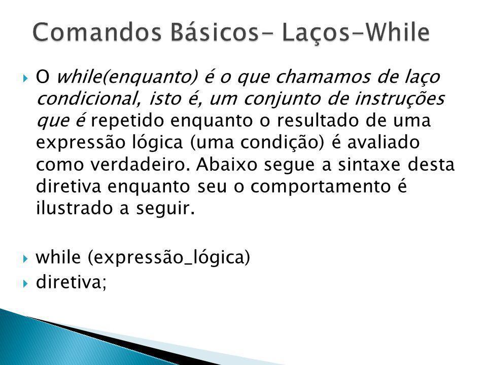 Comandos Básicos- Laços-While