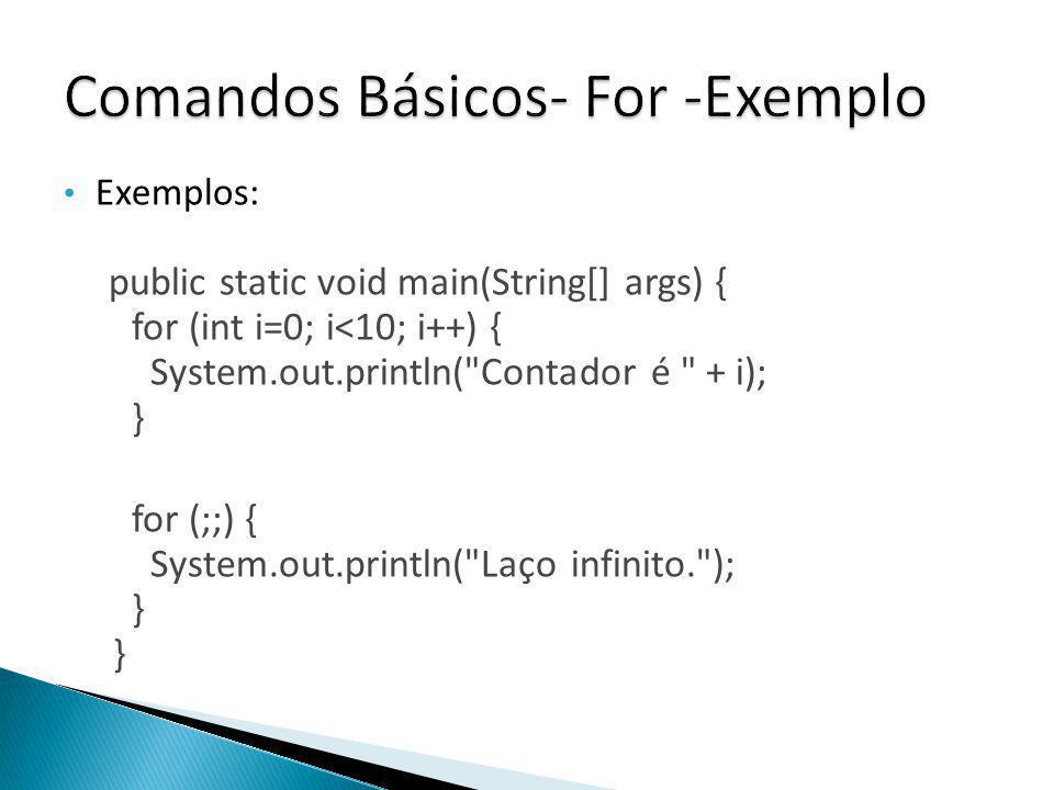 Comandos Básicos- For -Exemplo