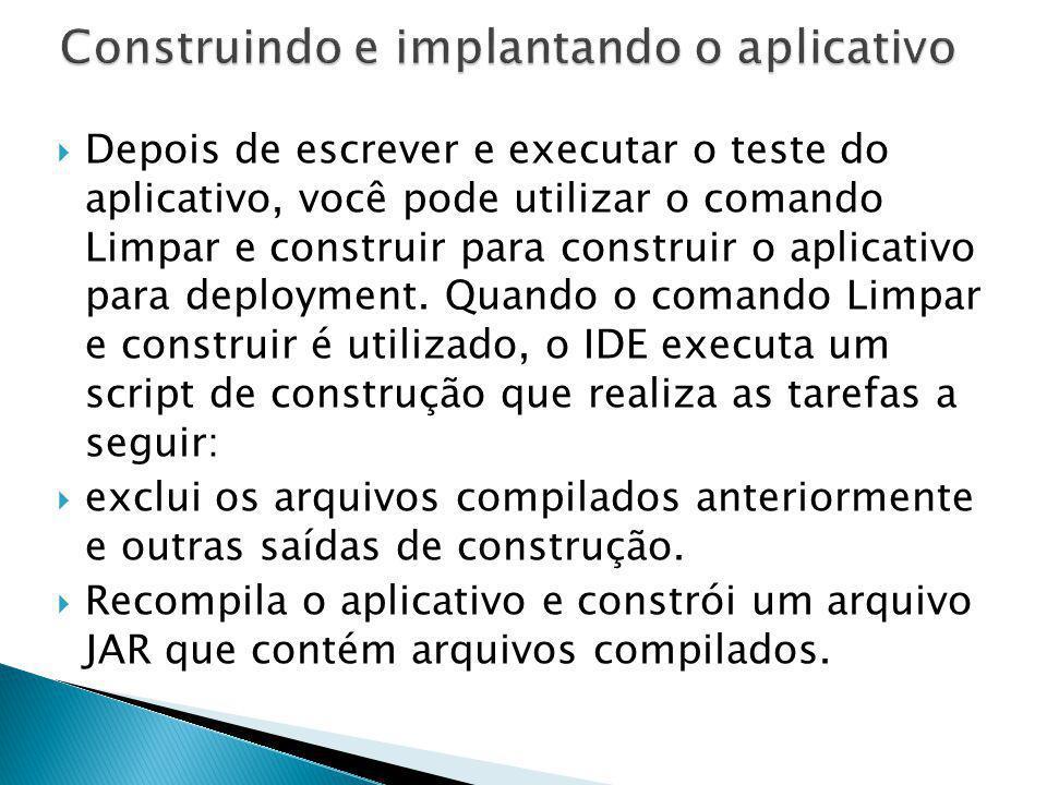 Construindo e implantando o aplicativo