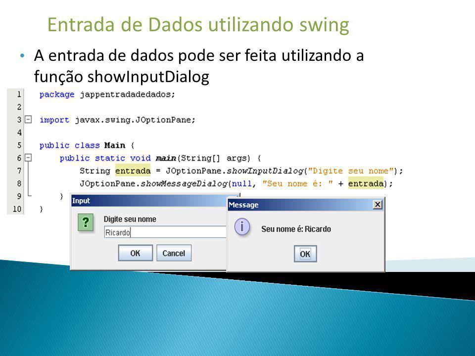 Entrada de Dados utilizando swing