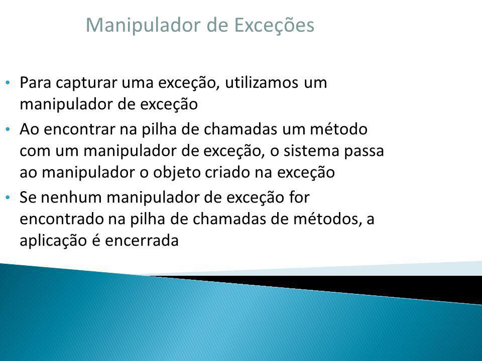 Manipulador de Exceções
