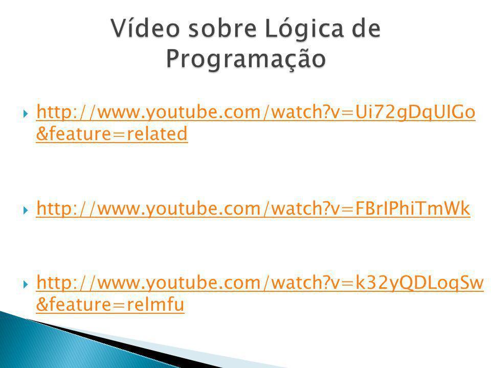 Vídeo sobre Lógica de Programação