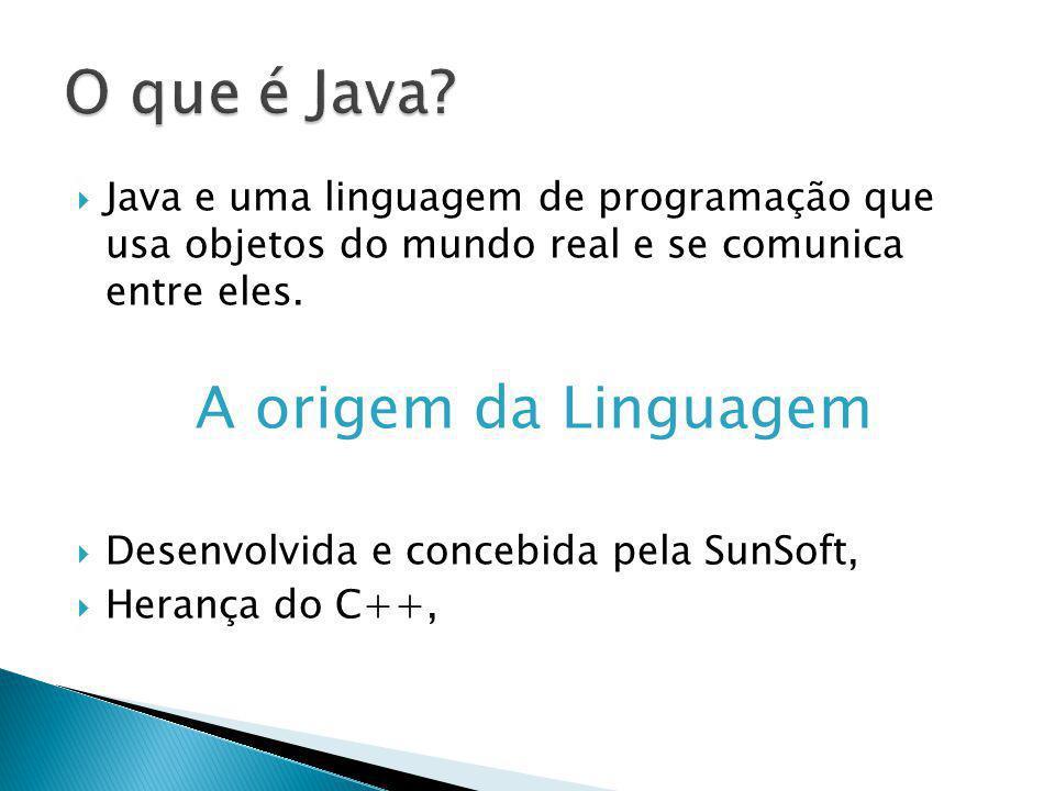 O que é Java A origem da Linguagem