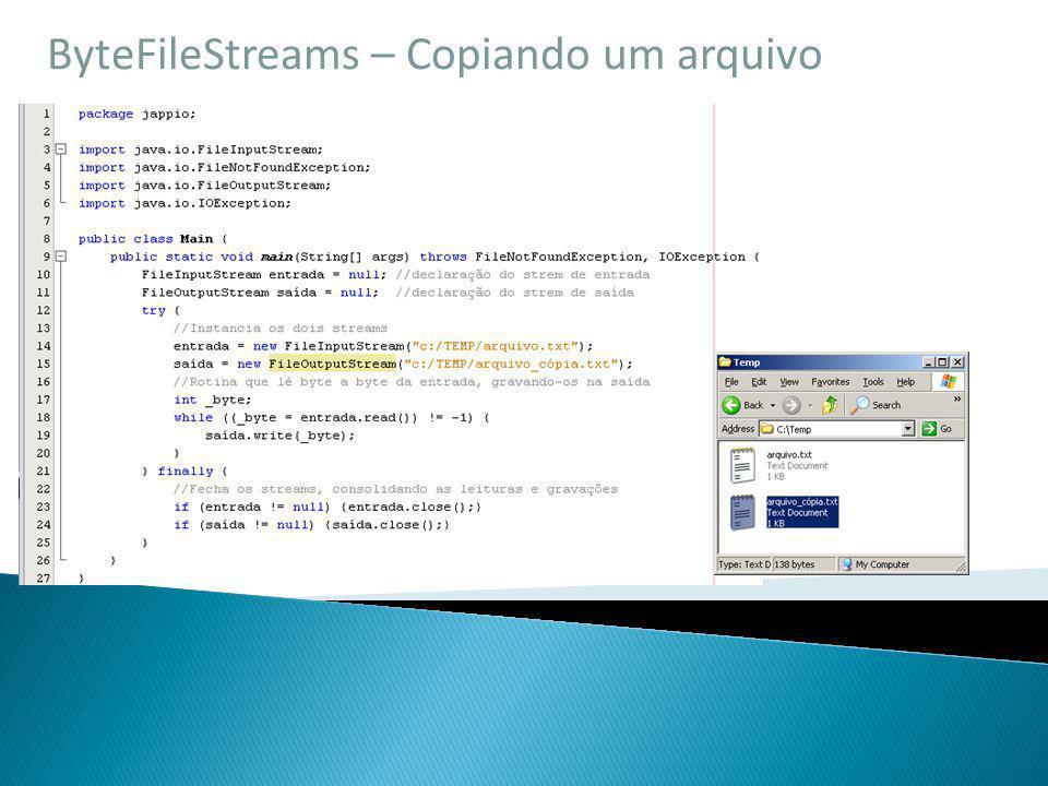 ByteFileStreams – Copiando um arquivo