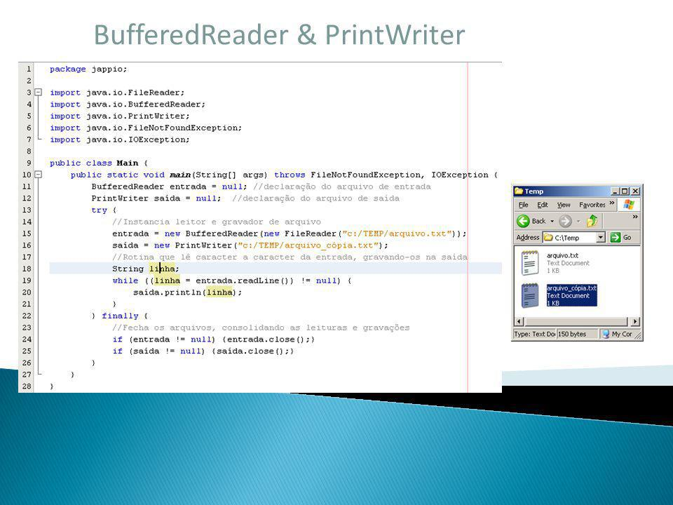 BufferedReader & PrintWriter