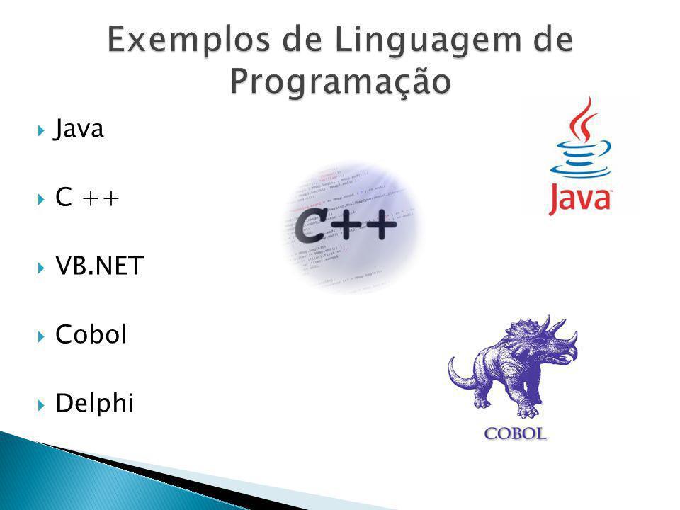 Exemplos de Linguagem de Programação