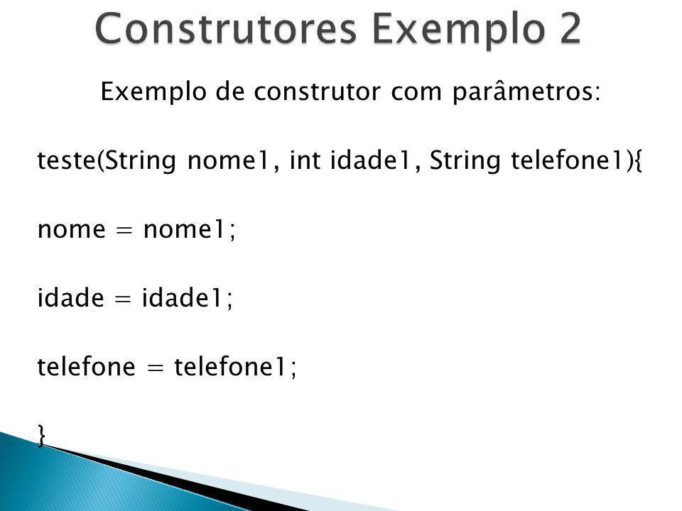 Construtores Exemplo 2
